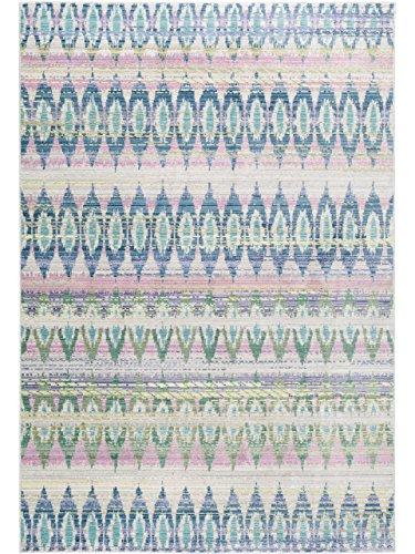 benuta Teppich Visconti Blau 160x230 cm | Moderner Teppich für Wohn- und Schlafzimmer