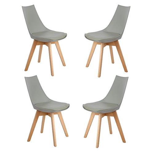 ajie 4er set retro designer stuhl esszimmerst hle. Black Bedroom Furniture Sets. Home Design Ideas