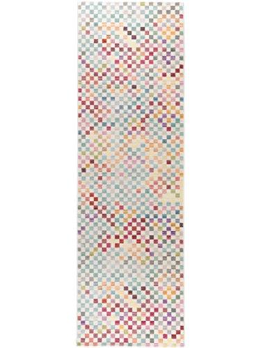 benuta Teppich Läufer Visconti Multicolor 70x240 cm | Moderner Teppich für Wohn- und Schlafzimmer