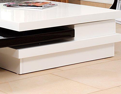 couch tisch wei schwarz hochglanz aus mdf 120x80cm recht. Black Bedroom Furniture Sets. Home Design Ideas