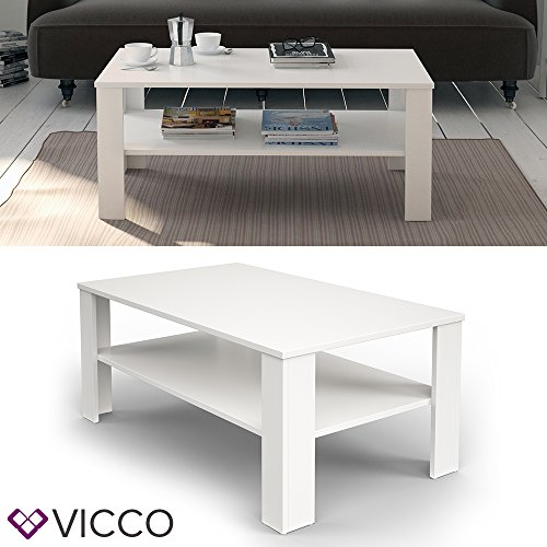 vicco couchtisch wei 100 x 60 cm wohnzimmertisch beistelltisch sofatisch kaffeetisch m bel24. Black Bedroom Furniture Sets. Home Design Ideas