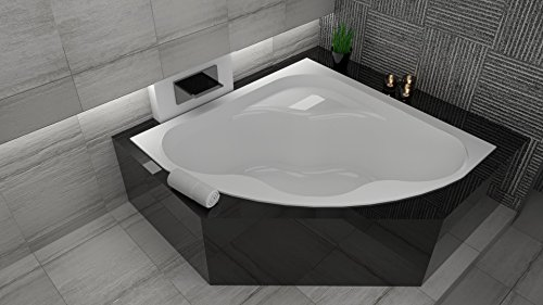 exclusive line eckbadewanne eckwanne badewanne comfort 150x150 cm mit wannenf e und viega. Black Bedroom Furniture Sets. Home Design Ideas