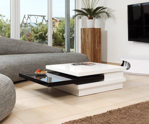 salesfever couchtisch hochglanz wei schwarz giaco m bel24. Black Bedroom Furniture Sets. Home Design Ideas
