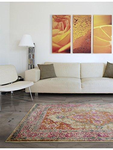 benuta Teppich Vero Pink 80x150 cm | Moderner Teppich für Wohn- und Schlafzimmer