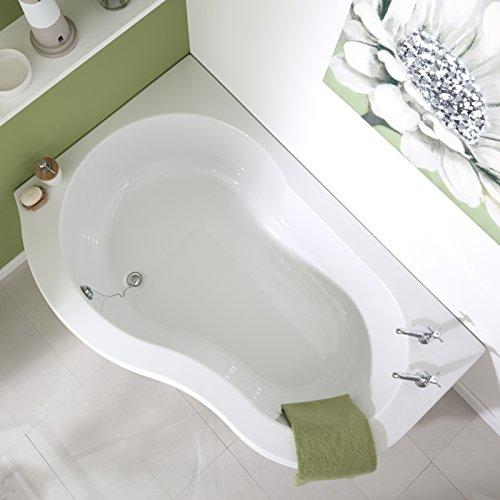 Hudson Reed Eckbadewanne Nuvo - Badewanne aus Acryl in Weiß - 1500 x 1000 mm - Linksbündig