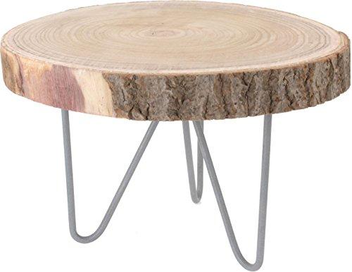 rustikaler massivholz beistelltisch holz tisch aus baumscheibe sofatisch couchtisch m bel24. Black Bedroom Furniture Sets. Home Design Ideas