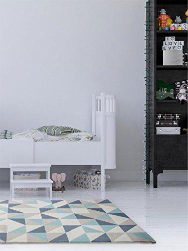 benuta teppich dessert blau 160x230 cm moderner teppich. Black Bedroom Furniture Sets. Home Design Ideas