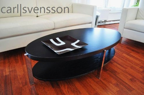 design couchtisch o 111 schwarz oval carl svensson neu tisch m bel24. Black Bedroom Furniture Sets. Home Design Ideas
