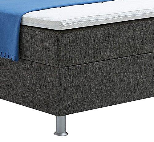 atlantic home collection edison boxspringbett 140 x 200 cm h rtegrad h2 inklusive topper. Black Bedroom Furniture Sets. Home Design Ideas