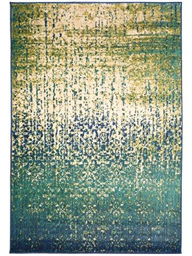 benuta Teppich Pintura Türkis 160x235 cm | Moderner Teppich für Wohn- und Schlafzimmer