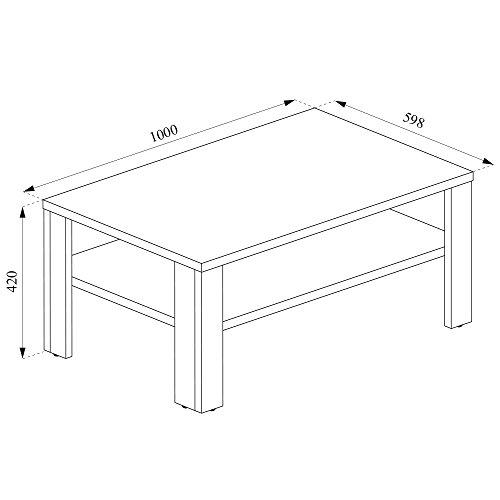vicco couchtisch wei 100 x 60 cm wohnzimmertisch beistelltisch sofatisch kaffeetisch m bel24. Black Bedroom Furniture Sets. Home Design Ideas
