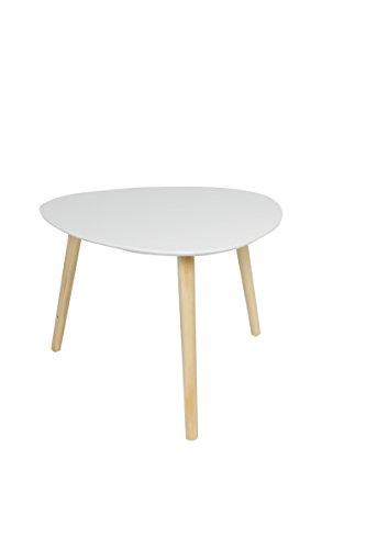 Trendsliving M11023-WEI Beistelltisch, Holz, weiß, 55 x 55 x 45 cm