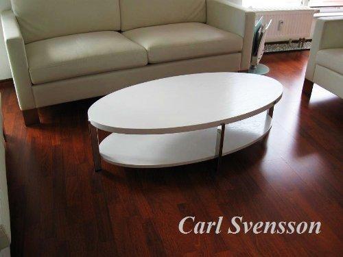 design couchtisch o 111 wei weiss oval carl svensson neu. Black Bedroom Furniture Sets. Home Design Ideas