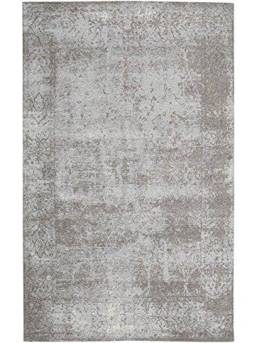 benuta Flachgewebe Teppich Frencie Baroque Grau 120x180 cm | Pflegeleichter Teppich für Flur und andere Wohnräume