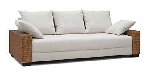 b famous schlafsofa barolo n rattan two tone 235 x 103 cm strukturstoff beige m bel24. Black Bedroom Furniture Sets. Home Design Ideas
