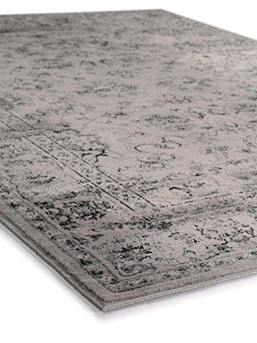 benuta vintage teppich im used look velvet grau 140x200 cm moderner teppich f r schlafzimmer. Black Bedroom Furniture Sets. Home Design Ideas