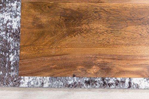Finebuy design couchtisch okala sheesham massivholz 71 x 71 x 45 cm mit metallgestell - Wohnzimmertisch quadratisch ...