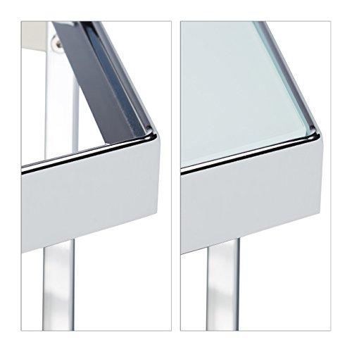 Relaxdays beistelltisch 2er set glas metallgestell for Design beistelltisch metall glas