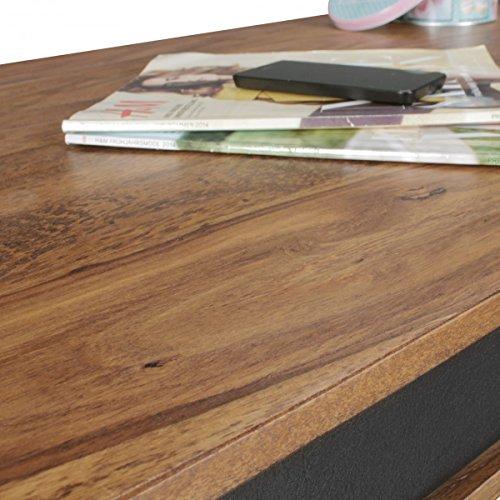 finebuy couchtisch karna kunstleder massiv holz sheesham. Black Bedroom Furniture Sets. Home Design Ideas