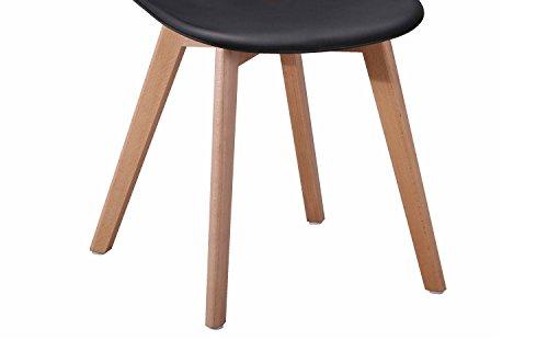 4 st hle skandinavisches design ergonomisch geformte. Black Bedroom Furniture Sets. Home Design Ideas
