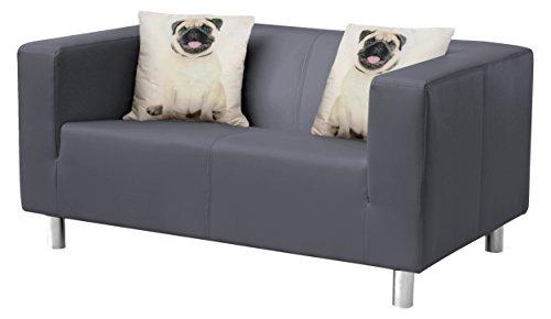 B-famous Cube Sofa, Stoff, anthrazit, 85 x 135 x 65 cm