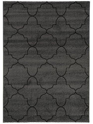 benuta Teppich Justin Grau 160x230 cm | Moderner Teppich für Wohn- und Schlafzimmer