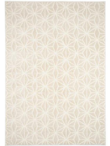 benuta Teppich Diamond Beige 160x230 cm | Moderner Teppich für Wohn- und Schlafzimmer