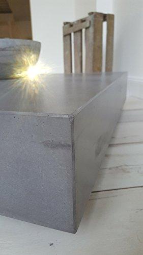 Massiver beton couchtisch schwebend und rollbar b k design for Couchtisch rollbar