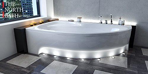 EXCLUSIVE LINE North Bath Alice Eckbadewanne Acryl 170x100 cm Links mit Schürze Ablauf TOP Qualität