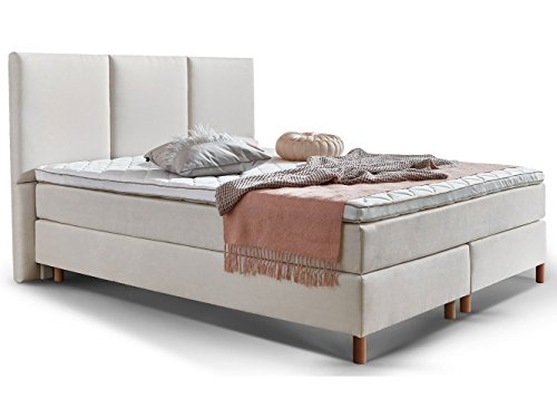 boxspringbett 180 200 160 200 140 200 beige creme altwei stoff liv hotelbett doppelbett. Black Bedroom Furniture Sets. Home Design Ideas