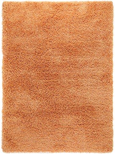 benuta Shaggy Hochflor Teppich Sophie Orange 160x230 cm | Langflor Teppich für Schlafzimmer und Wohnzimmer