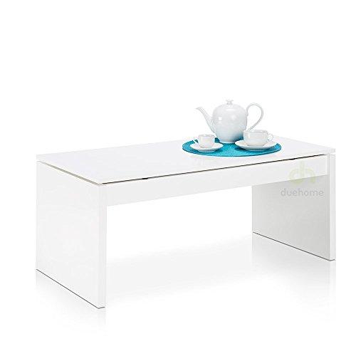 due home couchtisch wei gl nzend mit tablett klappsitz m bel24. Black Bedroom Furniture Sets. Home Design Ideas