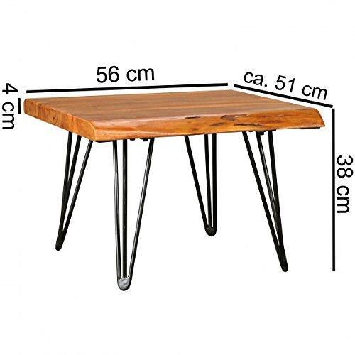 Finebuy design couchtisch mailo massivholz tisch baumkante for Couchtisch 56 cm hoch