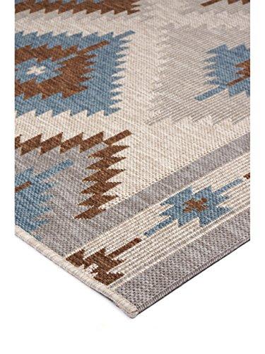 benuta in outdoor teppich star kilim braun 160x230 cm pflegeleichter teppich geeignet f r. Black Bedroom Furniture Sets. Home Design Ideas
