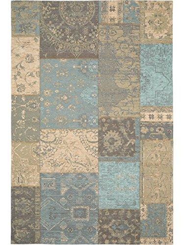 benuta Flachgewebe Teppich Frencie Patchwork Braun 120x180 cm | Pflegeleichter Teppich für Flur und andere Wohnräume