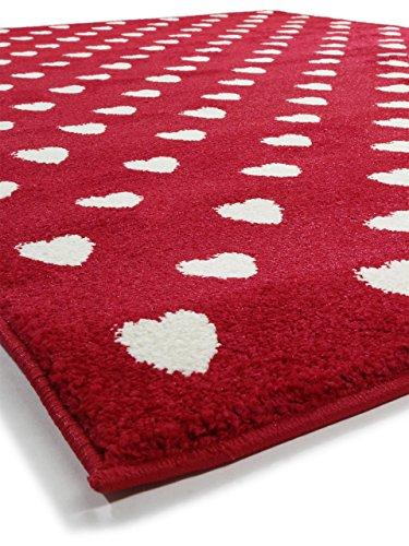 benuta teppich noa love rot 80x150 cm moderner teppich f r wohn und schlafzimmer m bel24. Black Bedroom Furniture Sets. Home Design Ideas