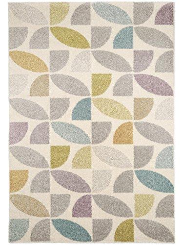 benuta Teppich Pastel Mosaik Multicolor 80x150 cm | Moderner Teppich für Wohn- und Schlafzimmer