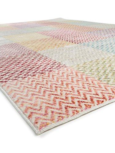benuta teppich visconti multicolor 120x180 cm moderner teppich f r wohn und schlafzimmer. Black Bedroom Furniture Sets. Home Design Ideas