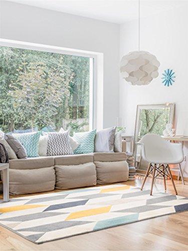 benuta Teppich Dessert Multicolor 140x200 cm | Moderner Teppich für Wohn- und Schlafzimmer
