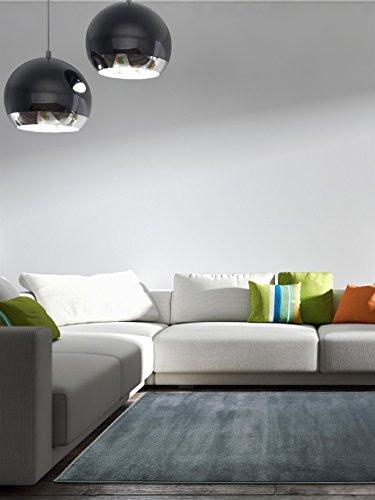 benuta Teppich Velvet, Kunstfaser, Grau, 160 x 230.0 x 2 cm