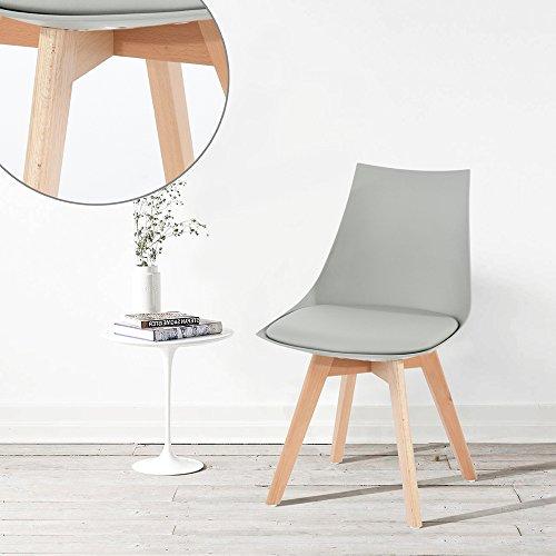 ajie 4er set retro designer stuhl esszimmerst hle wohnzimmerst hl mit bequem gepolstertem sitz. Black Bedroom Furniture Sets. Home Design Ideas