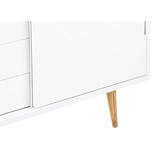 ac design furniture sideboard wei hochglanz mit 2 schiebet ren und 4 schubladen romin m bel24. Black Bedroom Furniture Sets. Home Design Ideas