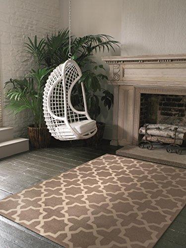 benuta Teppich Arabesque Beige 140x200 cm | Moderner Teppich für Wohn- und Schlafzimmer