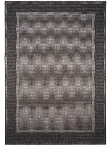 benuta In- & Outdoor Teppich Riso Grau 80x150 cm | Pflegeleichter Teppich geeignet für Innen- und Außenbreich, Balkon und Terrasse