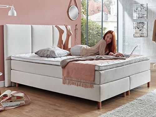 boxspringbett 180 200 160 200 140 200 beige creme altwei stoff liv hotelbett doppelbett. Black Bedroom Furniture Sets. Home Design Ideas