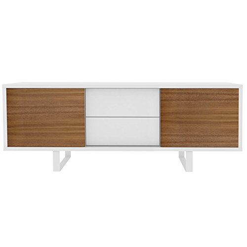 temahome sideboard mit 2 schiebet ren und 2 schubladen slide wei nussbaum m bel24. Black Bedroom Furniture Sets. Home Design Ideas