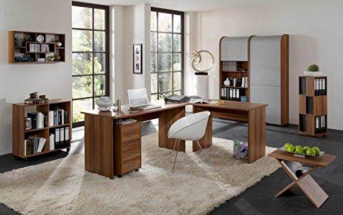 arbeitszimmer b roeinrichtung b rom bel b ro komplett set office profi in walnuss m bel24. Black Bedroom Furniture Sets. Home Design Ideas