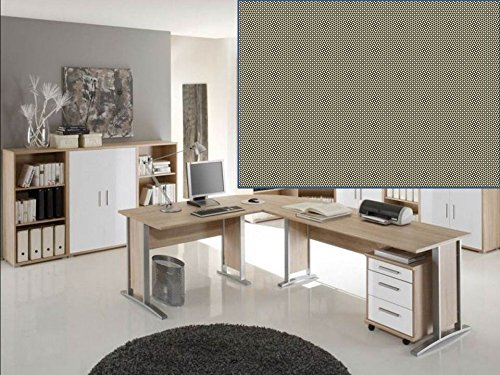 arbeitszimmer mit winkelschreibtisch komplett set office line mit highboard in eiche sonoma. Black Bedroom Furniture Sets. Home Design Ideas