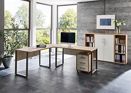 Büromöbel Arbeitszimmer komplett Set OFFICE EDITION (Set 2) in Eiche Sonoma / Weiß