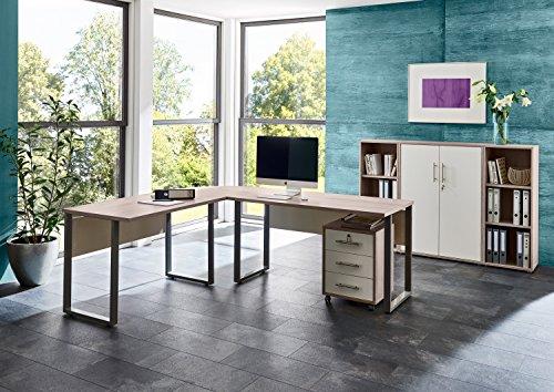 b rom bel arbeitszimmer komplett set office edition set 2 in sandeiche wei m bel24. Black Bedroom Furniture Sets. Home Design Ideas